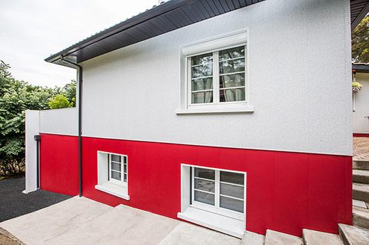 r novation d une maison typique du pays basque uniso. Black Bedroom Furniture Sets. Home Design Ideas