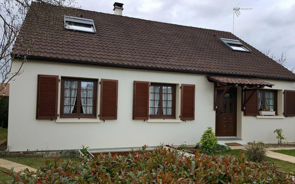 Isolation des fa ades d 39 une maison de plain pied uniso solutions isol - Isolation d une maison ...