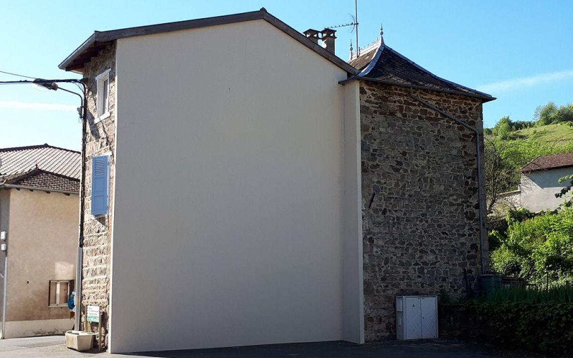 r novation thermique du pignon d 39 une maison de village en pierres uniso solutions isolation. Black Bedroom Furniture Sets. Home Design Ideas