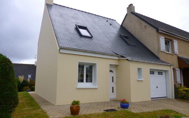 Isolation par l 39 ext rieur d 39 une maison deux tages uniso - Isolation thermique sol renovation ...